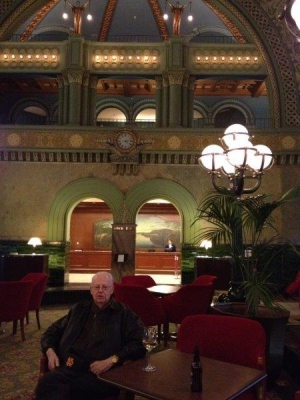 Dad at Union Station in Saint Louis